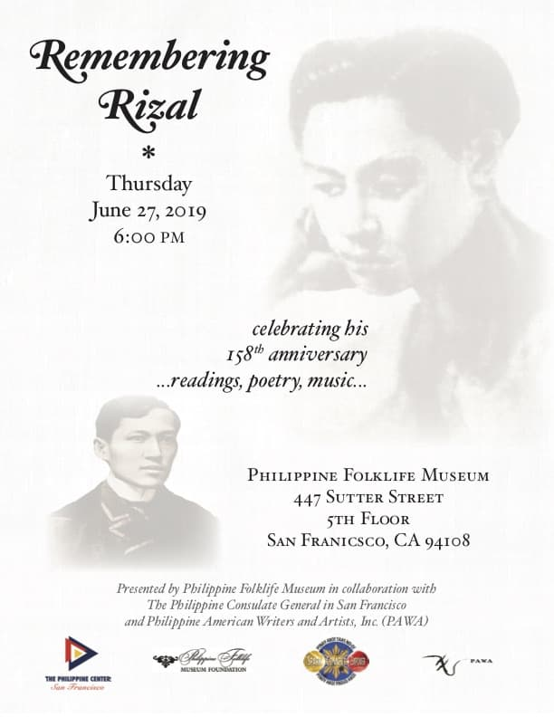 Remembering Rizal-June 2019 - Philippine Folklife Museum