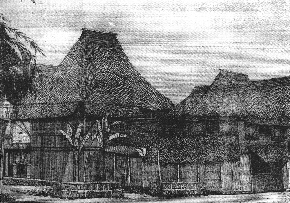 Tondo, circa 1875 -  1877; The Bonifacios lived in a simple nipa hut much like the ones shown here.